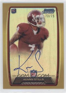 2013 Bowman - Rookie Chrome Refractor Autograph - Gold [Autographed] #RCRA-KS - Kenny Stills /75