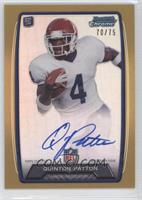 Quinton Patton /75