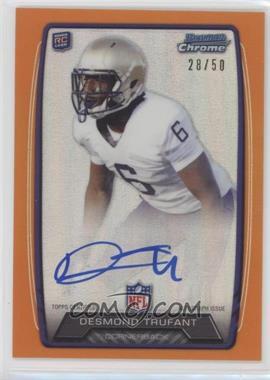 2013 Bowman - Rookie Chrome Refractor Autograph - Orange [Autographed] #RCRA-DT - Desmond Trufant /50