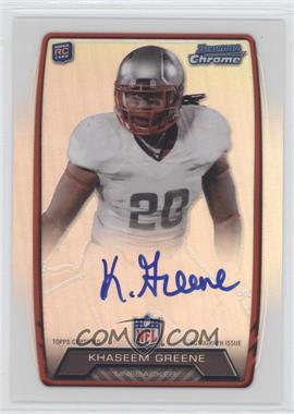 2013 Bowman - Rookie Chrome Refractor Autograph #RCRA-KG - Khaseem Greene