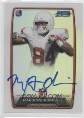 2013 Bowman - Rookie Chrome Refractor Autograph #RCRA-MGO - Marquise Goodwin