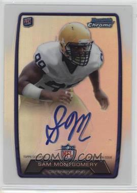 2013 Bowman - Rookie Chrome Refractor Autograph #RCRA-SM - Sam Montgomery