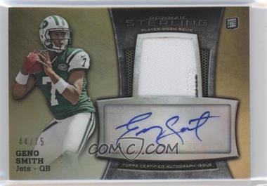 2013 Bowman Sterling - Autograph Rookie Relics - Gold Refractor #BSAR-GS - Geno Smith /75