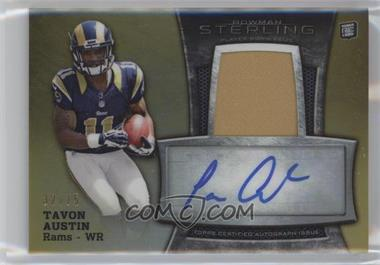 2013 Bowman Sterling - Autograph Rookie Relics - Gold Refractor #BSAR-TA - Tavon Austin /75