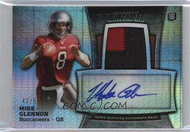 2013 Bowman Sterling - Autograph Rookie Relics - Prism Refractor #BSAR-MG - Mike Glennon /55