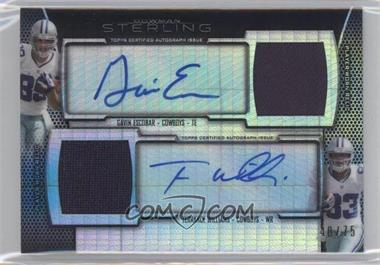 2013 Bowman Sterling - Dual Autograph Relics - Prism Refractor #BSPDAR-EW - Gavin Escobar, Terrance Williams /75