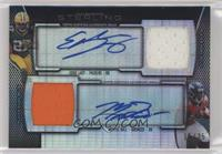 Eddie Lacy, Montee Ball [Noted] #/35