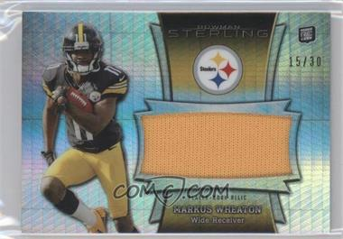 2013 Bowman Sterling - Jumbo Rookie Relic - Prism Refractor Patch #BSJRR-MW - Markus Wheaton /30
