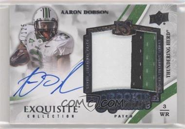 2013 Exquisite Collection - [Base] #138 - Rookie Signature Patch Tier 2 - Aaron Dobson /125