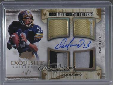 2013 Exquisite Collection - Rare Materials Signatures - Gold Spectrum #RMS-DM - Dan Marino /1