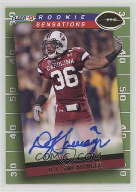 2013 Fleer Retro - 1992 Fleer Rookie Sensations Autographs #RS-5 - D.J. Swearinger