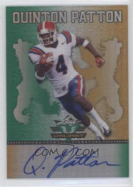 2013 Leaf Valiant - [Base] #BA-QP1 - Quinton Patton