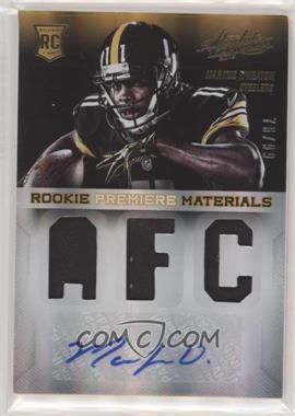 2013 Panini Absolute - Rookie Premiere Materials - AFC/NFC Signatures [Autographed] #224 - Markus Wheaton /99