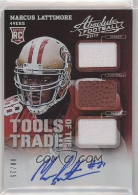 2013 Panini Absolute - Tools of the Trade - Rookies Signatures Prime [Autographed] #23 - Marcus Lattimore /25