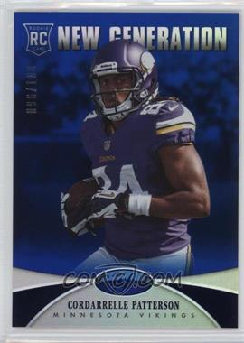 2013 Panini Certified - [Base] - Mirror Blue #216 - New Generation - Cordarrelle Patterson /100