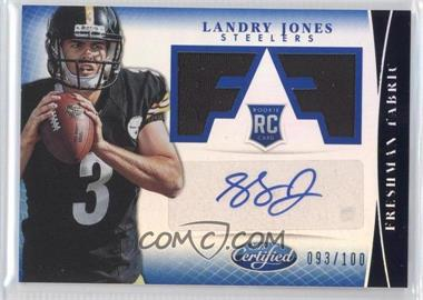 2013 Panini Certified - [Base] - Mirror Blue #320 - Freshman Fabric Signatures - Landry Jones /100