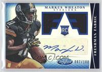 Freshman Fabric Signatures - Markus Wheaton #/100