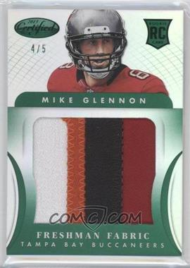 2013 Panini Certified - [Base] - Mirror Emerald Materials [Memorabilia] #328 - Freshman Fabric Jumbo - Mike Glennon /5