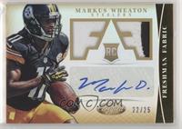 Freshman Fabric Signatures - Markus Wheaton #/25