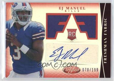 2013 Panini Certified - [Base] - Mirror Red #309 - Freshman Fabric Signatures - EJ Manuel /199