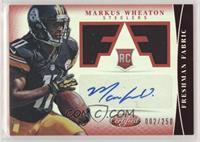 Freshman Fabric Signatures - Markus Wheaton /250