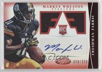Freshman Fabric Signatures - Markus Wheaton #/250