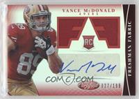 Freshman Fabric Signatures - Vance McDonald /199