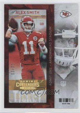 2013 Panini Contenders - [Base] - Cracked Ice #30 - Alex Smith /21