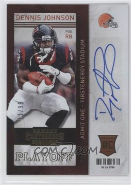 2013 Panini Contenders - [Base] - Short Print Rookies Playoff Ticket #132 - Dennis Johnson /99