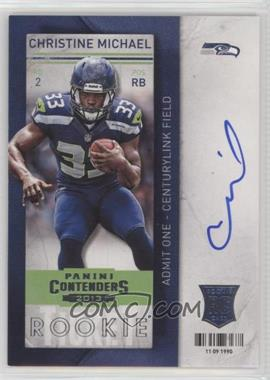 2013 Panini Contenders - [Base] - Short Print Rookies #203 - Christine Michael (holding ball with one hand)