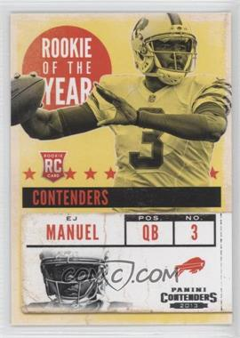 2013 Panini Contenders - Rookie of the Year Contenders #4 - EJ Manuel