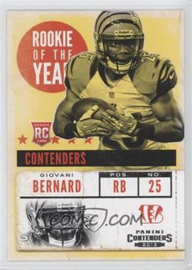 2013 Panini Contenders - Rookie of the Year Contenders #6 - Giovani Bernard