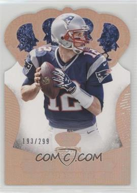 2013 Panini Crown Royale - [Base] - Retail Bronze Holo Die-Cut Crown #91 - Tom Brady /299
