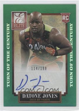 2013 Panini Elite - [Base] - Turn of the Century Rookie Signatures [Autographed] #124 - Datone Jones /199