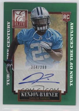 2013 Panini Elite - [Base] - Turn of the Century Rookie Signatures [Autographed] #150 - Kenjon Barner /299