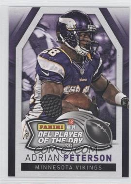 2013 Panini NFL Player of the Day - [Base] #3 - Adrian Peterson