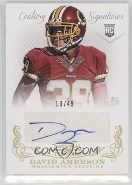 2013 Panini National Treasures - [Base] - Century Gold Signatures [Autographed] #269 - David Amerson /49