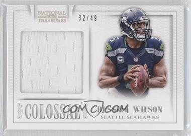 2013 Panini National Treasures - Colossal Materials #30 - Russell Wilson /49