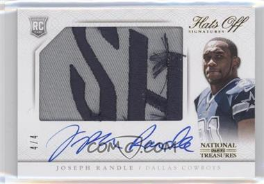 2013 Panini National Treasures - Rookie Hats Off Signatures - Team Name #15 - Joseph Randle /4