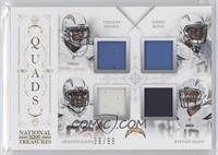Vincent Brown, Eddie Royal, Antonio Gates, Keenan Allen #/99