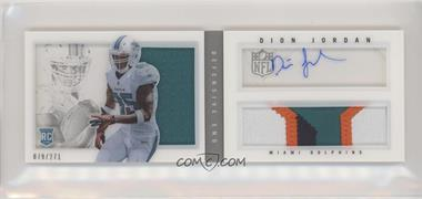 2013 Panini Playbook - Rookie Booklets - Silver Signatures [Autographed] #207 - Dion Jordan /271