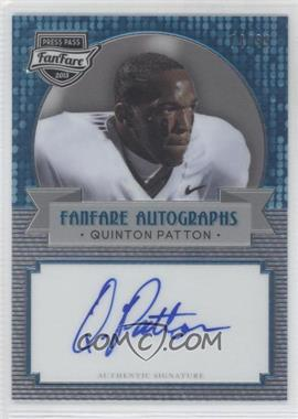 2013 Press Pass Fanfare - [Base] - Aqua #FF-QP - Quinton Patton /99