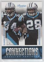 DeAngelo Williams, Jonathan Stewart #/25