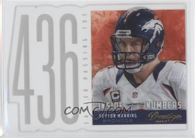 2013 Prestige - Inside the Numbers Acetate Die-Cuts #6 - Peyton Manning
