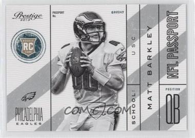 2013 Prestige - NFL Passport #22 - Matt Barkley