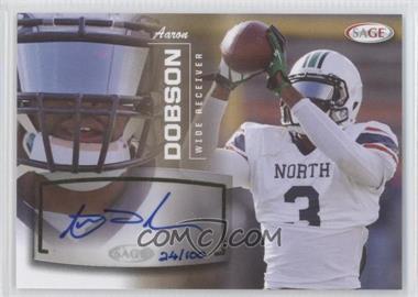 2013 SAGE - Autographs - Gold #10 - Aaron Dobson /100