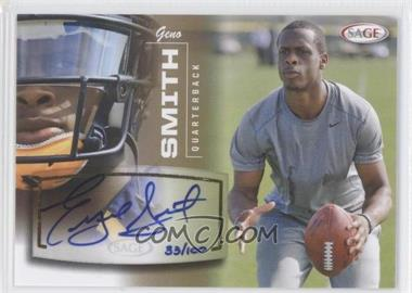 2013 SAGE - Autographs - Gold #50 - Geno Smith /100