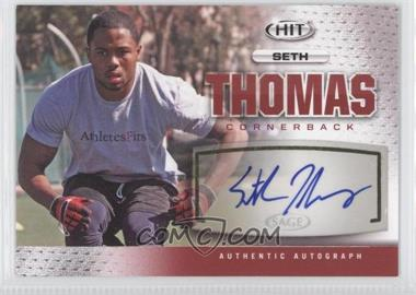 2013 SAGE Hit - Autographs #A119 - Seth Thomas