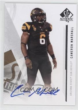 2013 SP Authentic - Autographs #16 - Cameron Marshall