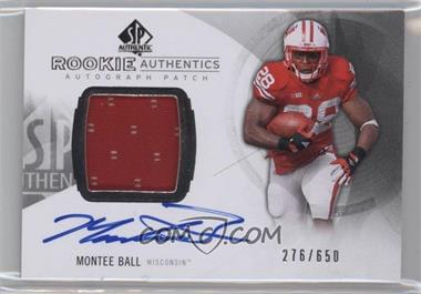 2013 SP Authentic - [Base] #164 - Rookie Patch Autographs - Montee Ball /650